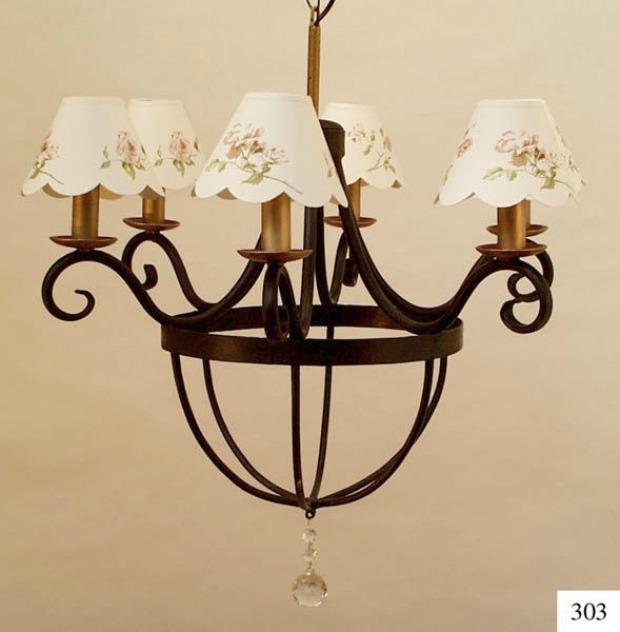 Illuminazione camera da letto country: lampadari, lampade