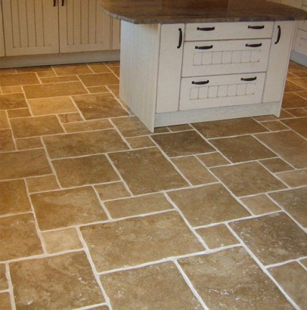 Pavimenti cucina country: cotto, gres porcellanato