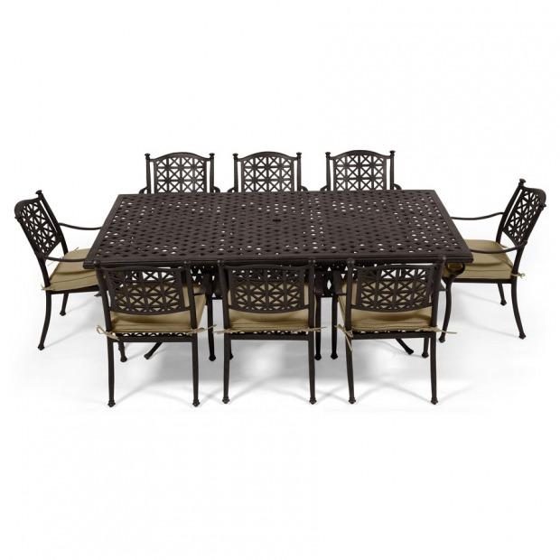 Tavoli da giardino country legno ferro battuto for Tavoli da giardino in ferro