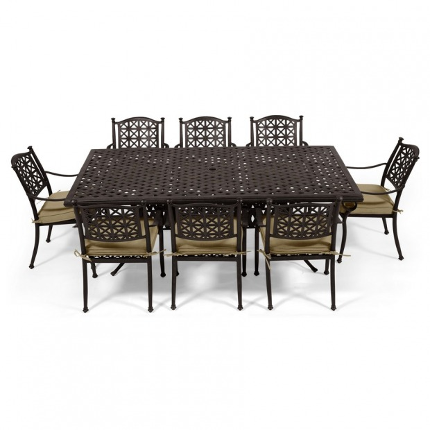 Tavoli da giardino country legno ferro battuto - Tavolo ferro giardino ...